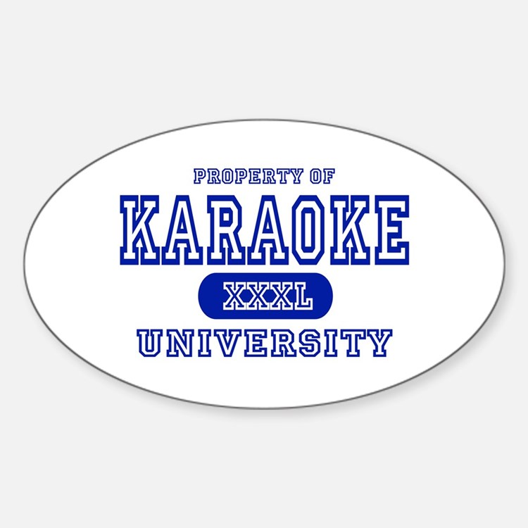 Karaoke University Oval Decal
