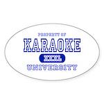 Karaoke University Oval Sticker