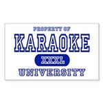 Karaoke University Rectangle Sticker