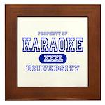 Karaoke University Framed Tile