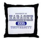 Karaoke University Throw Pillow