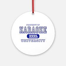 Karaoke University Ornament (Round)