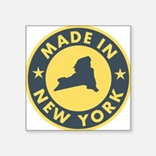 "2-Made-In-nEW-yORK Square Sticker 3"" x 3"""