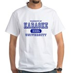 Karaoke University White T-Shirt