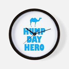 Hump Day Hero Blue Wall Clock