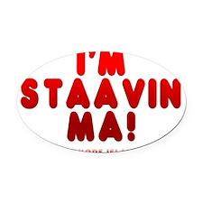 trans_stavin_ma Oval Car Magnet