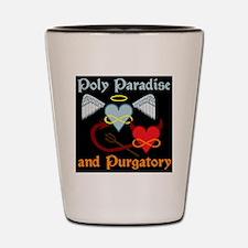 poly paradise  purgatory logo final big Shot Glass