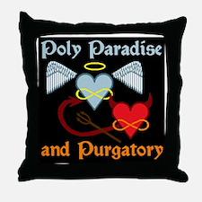 poly paradise  purgatory logo final b Throw Pillow