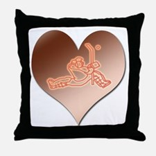 Heartminder (copper) Throw Pillow