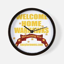 navy 4 moms Warhawks 2 Wall Clock