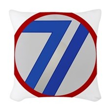 71st Infantry Division Woven Throw Pillow