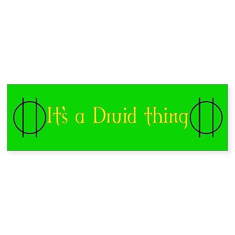 Druid Thing Bumper Sticker