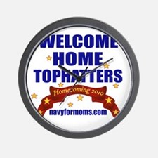 navy 4 moms tophatters Wall Clock