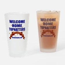 navy 4 moms tophatters Drinking Glass