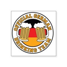 """Official German Drinking Te Square Sticker 3"""" x 3"""""""