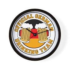 Official German Drinking Team Wall Clock