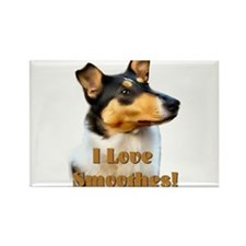 I love Smooth Collies Rectangle Magnet