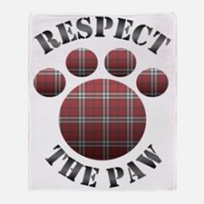 Respect The Paw Throw Blanket