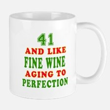 Funny 41 And Like Fine Wine Birthday Mug