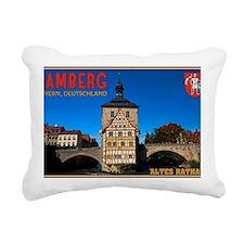 Bamberg Altes Rathaus wi Rectangular Canvas Pillow