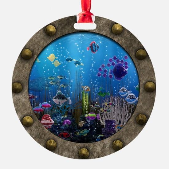 Underwater Love Porthole Ornament