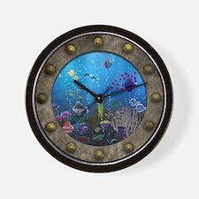 Underwater Love Porthole Wall Clock