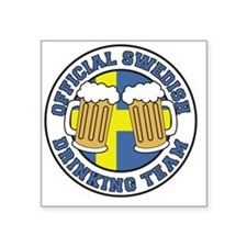 """Official Swedish Drinking T Square Sticker 3"""" x 3"""""""