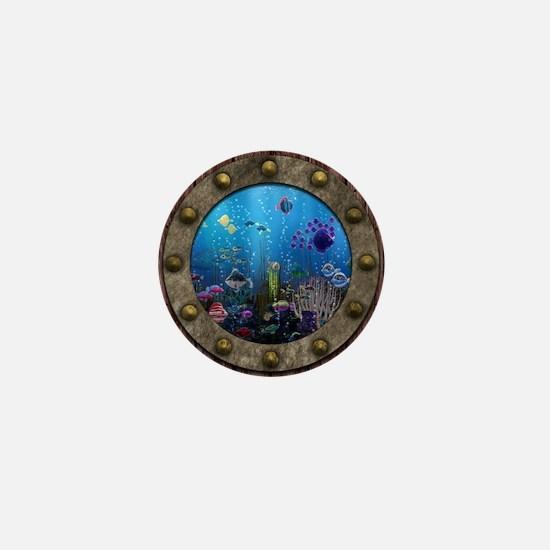 Underwater Love Porthole Mini Button