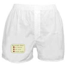 Geocachers Creed Boxer Shorts