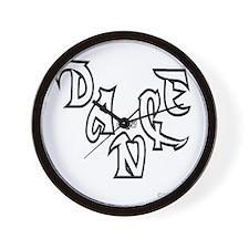 dance crew black tshirt copy Wall Clock