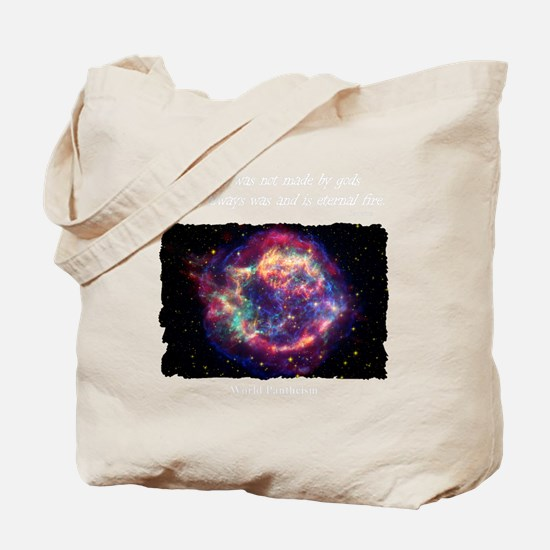 Cassiopia A Shirt Dark Tote Bag