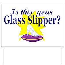 glass slipper (men) Yard Sign