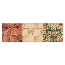 William Morris Earth Textiles Bumper Sticker