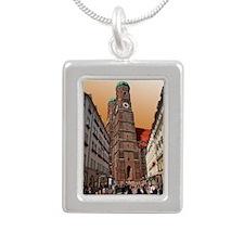 Munich Frauenkirche Silver Portrait Necklace