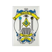 Waverly 51 Lodge Crest 2 Rectangle Magnet