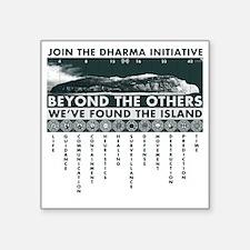"DharmaIsland Square Sticker 3"" x 3"""