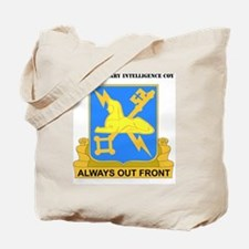 DUI-572ND MILITARY INT COY  WITH TEXT Tote Bag