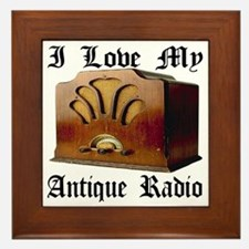 ilovemy_antique_radio Framed Tile