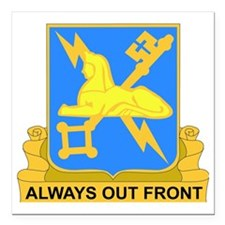 """DUI-572ND MILITARY INT C Square Car Magnet 3"""" x 3"""""""