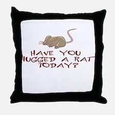 Rat Hug Throw Pillow