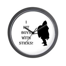 Fun For Female Fighters! Wall Clock