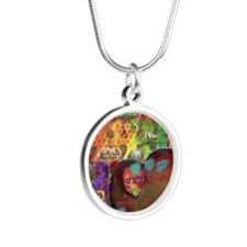 Every Child is an Artist Silver Round Necklace