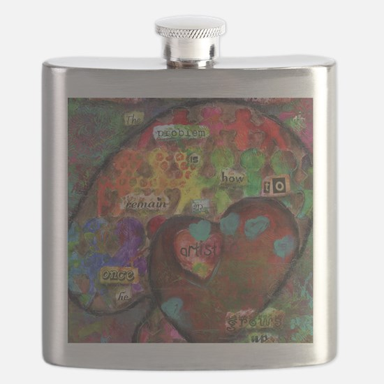 Every Child is an Artist Flask