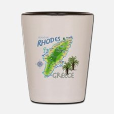 rhodes_map_t_shirt Shot Glass