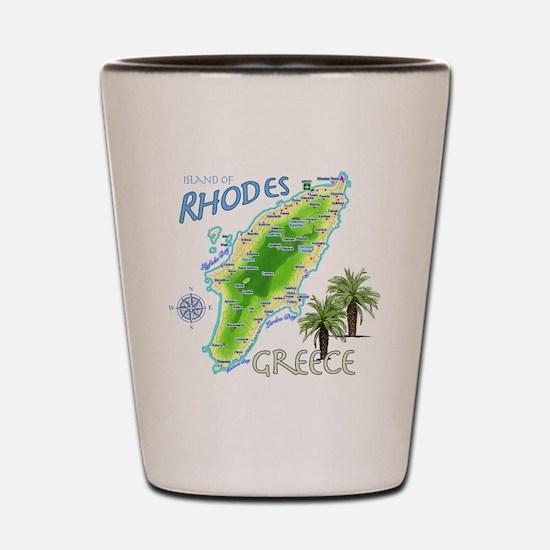 rhodes_map_t_shirt Shot Glass