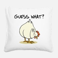 Chicken Butt Square Canvas Pillow