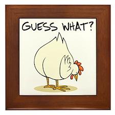 Chicken Butt Framed Tile