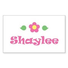 "Pink Daisy - ""Shaylee"" Rectangle Decal"