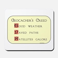 Geocacher's Creed Mousepad
