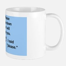 kick_wall_peel_oval Mug